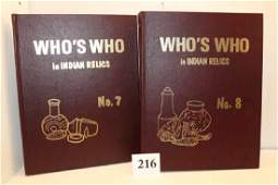 2 Books Whos Who 7 and Whos Who 8