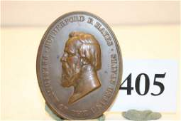 Bronze Rutherford B. Hayes Peace Medal