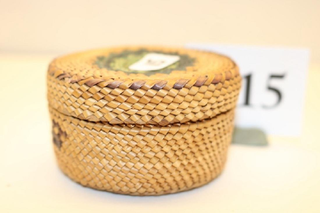 Lidded Nootka Basket