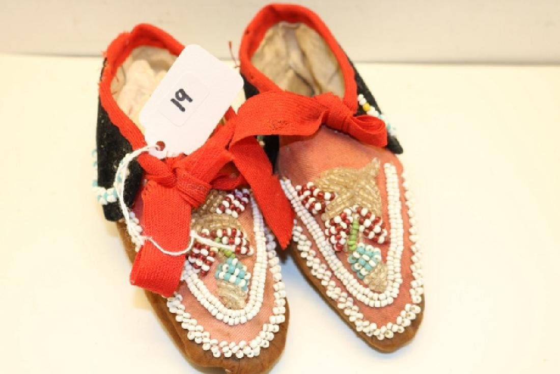 Beaded Iroquois Childs Moccasins