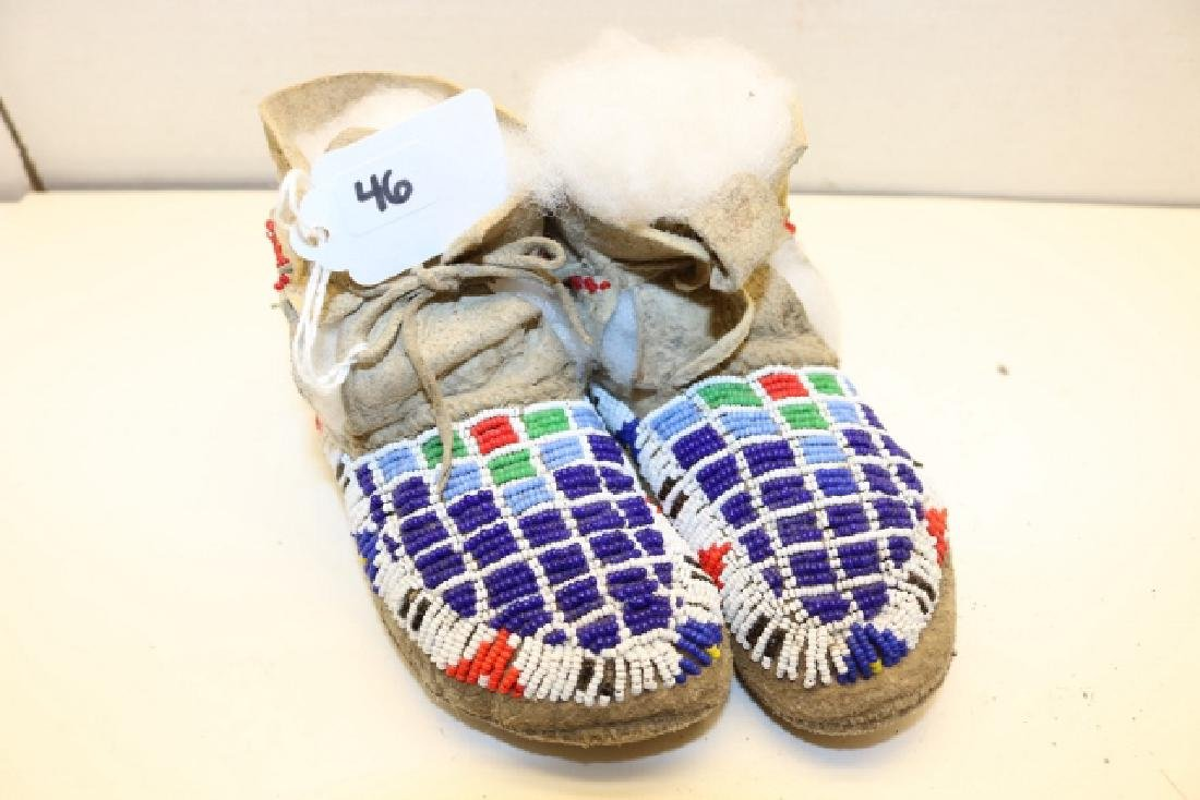 Bead Decorated Childs Moccasins