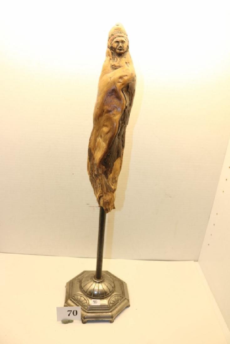 Carved Wood Indian Sculpture