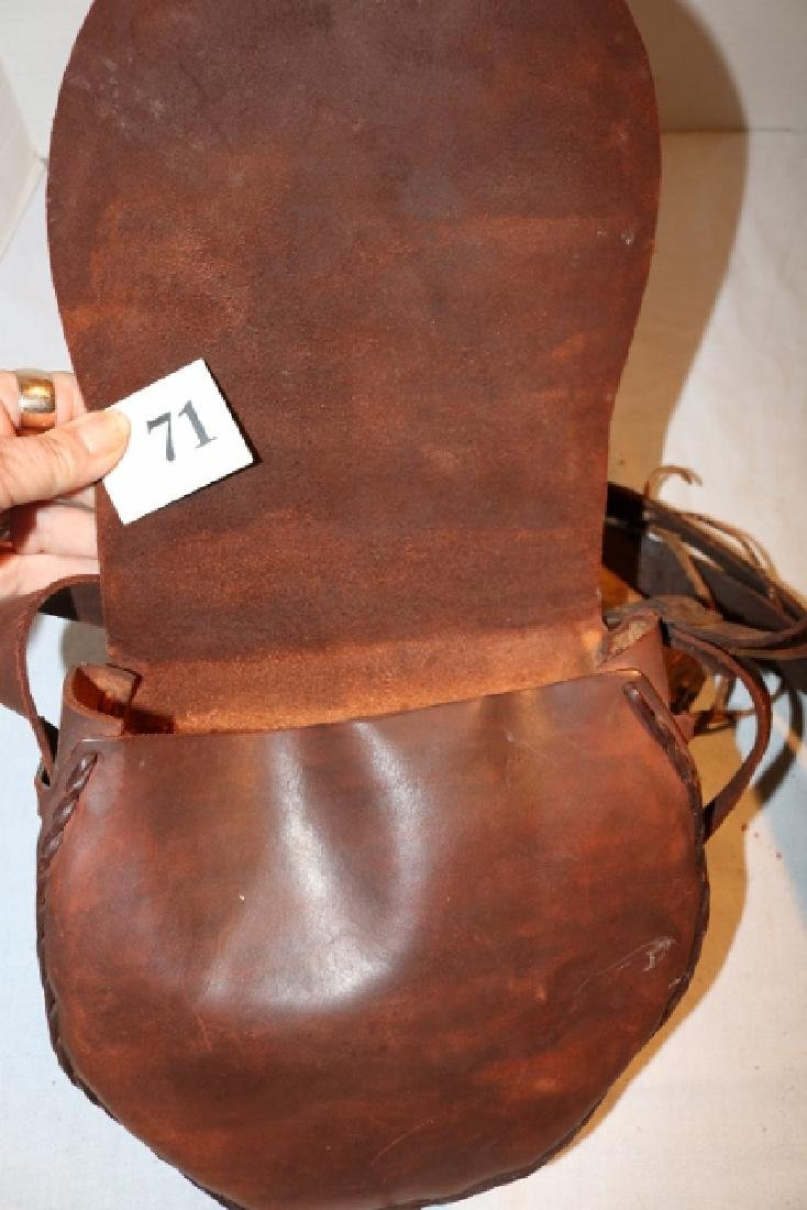 Saddle Leather Hunter's Bag NO SHIPPING OUT OF COUNTRY - 3