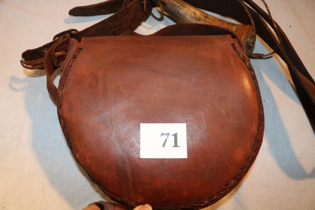 Saddle Leather Hunter's Bag NO SHIPPING OUT OF COUNTRY - 4