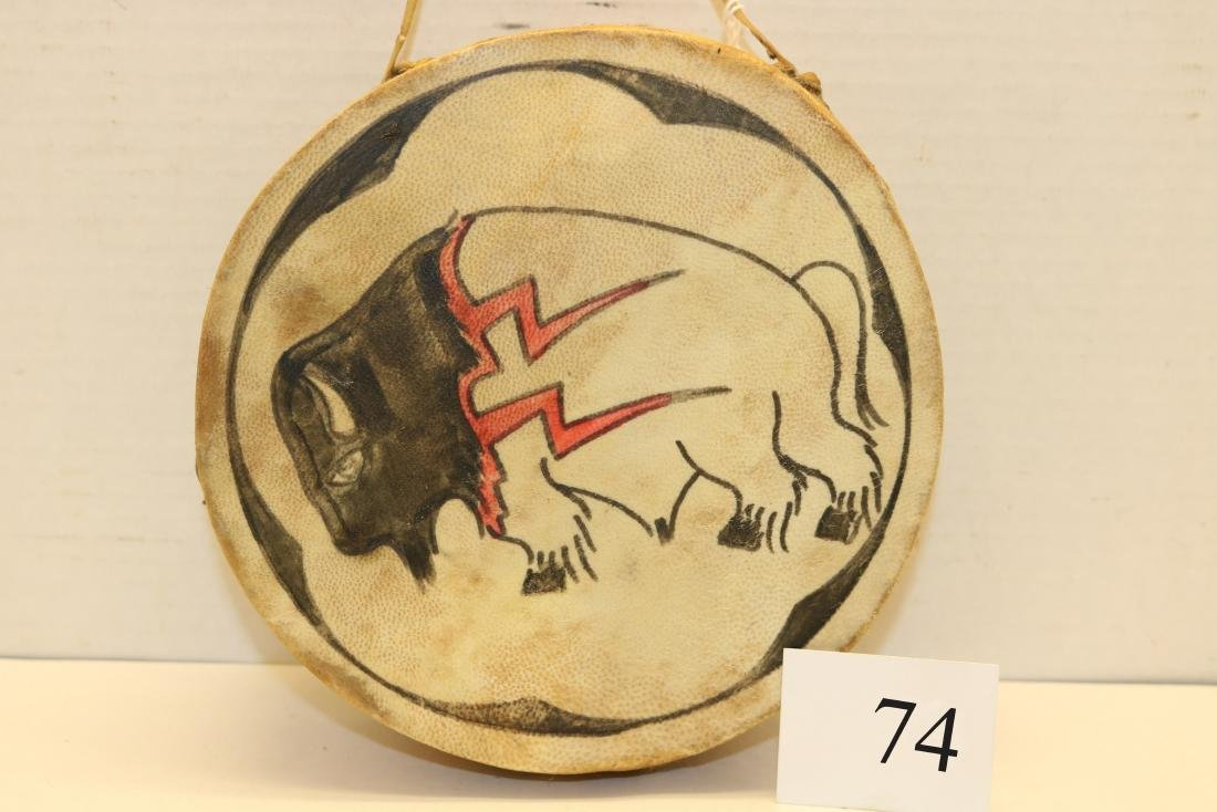 Wood & Hide Painted Hopi Drum