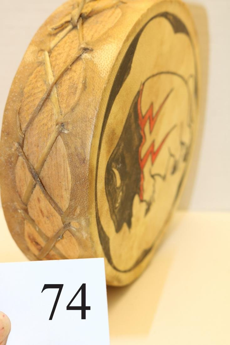 Wood & Hide Painted Hopi Drum - 2