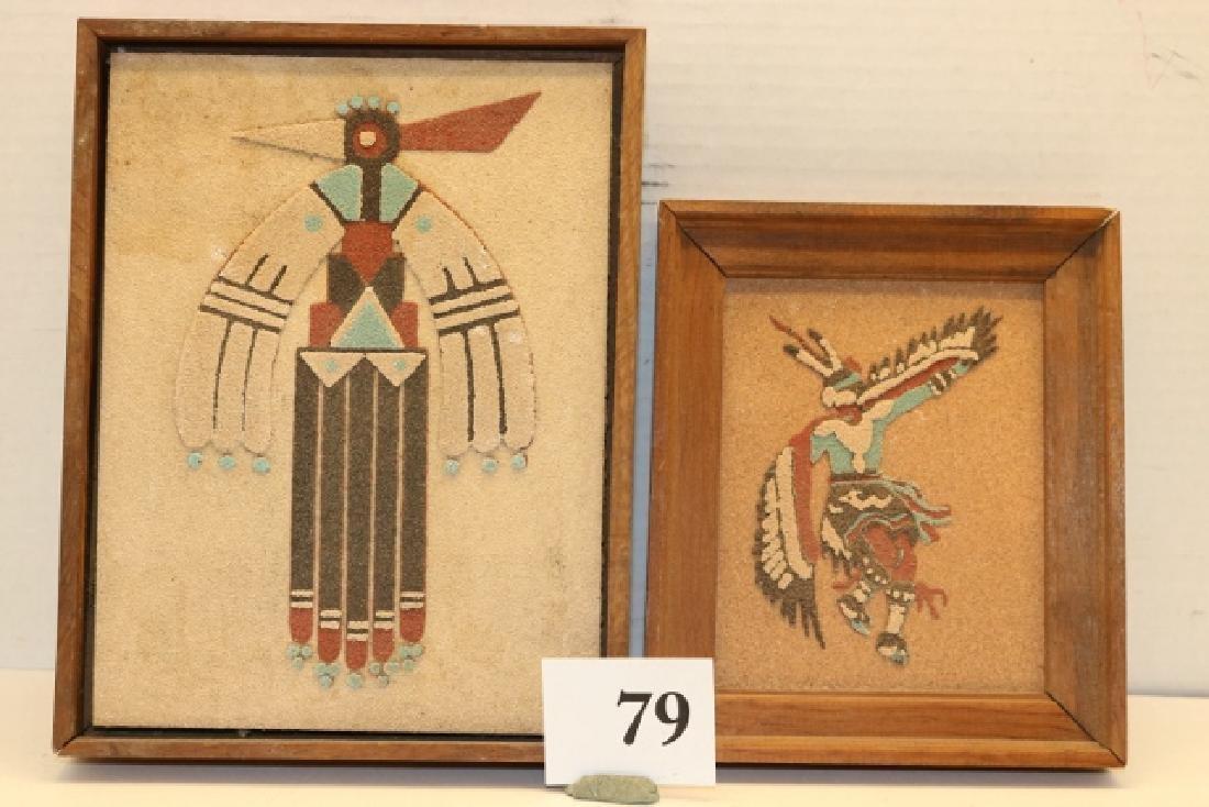 2 Sand Paintings Framed