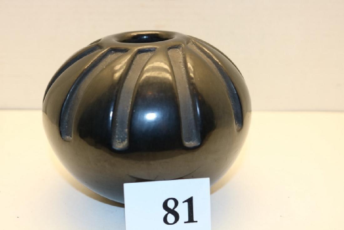 Black on Black Santa Clara Seed Jar