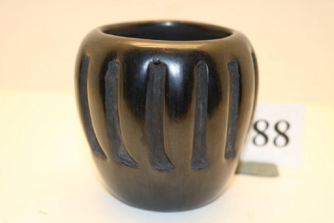 Black on Black Carved Bowl
