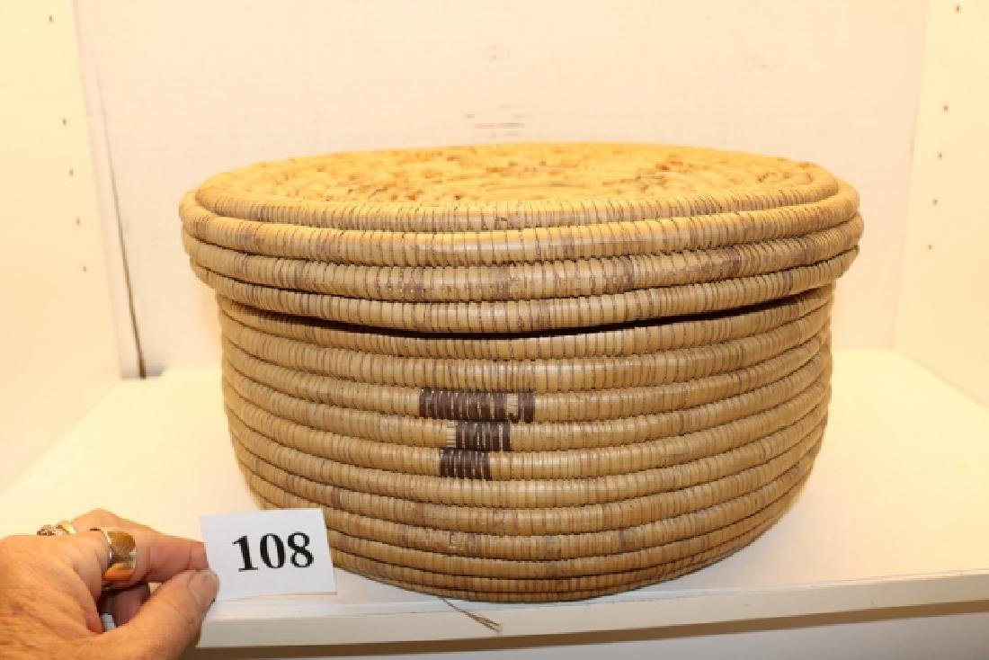 Lidded Papago Basket