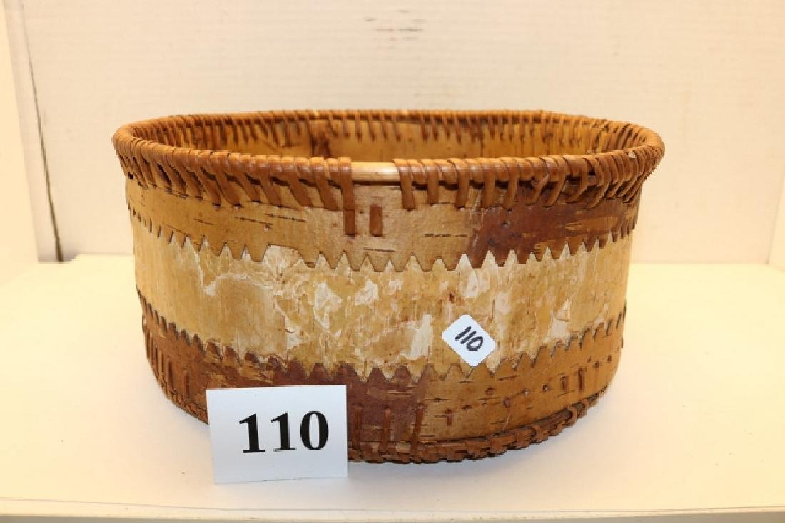 Athabascan Birch Bark Basket