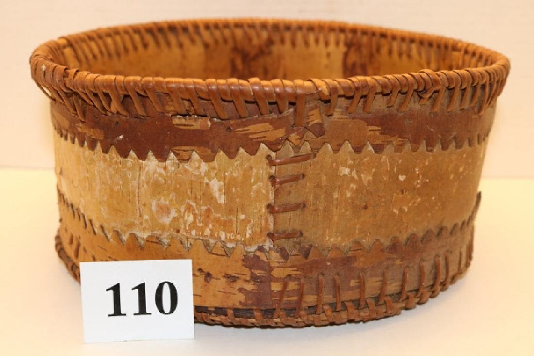 Athabascan Birch Bark Basket - 2
