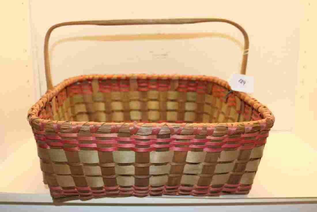 Polychrome Plaited Basket