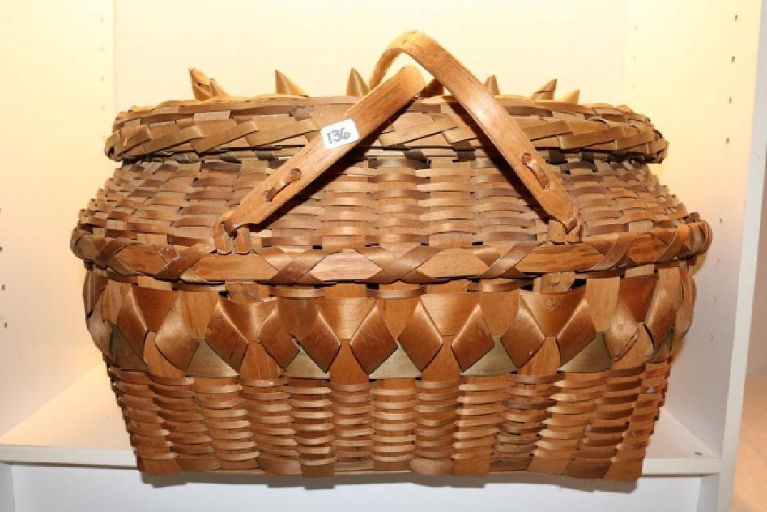 Plaited Iroquois Basket