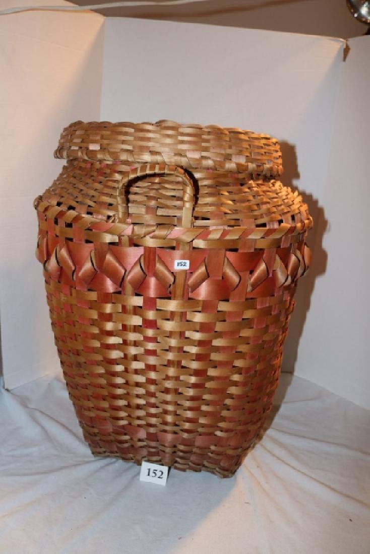 Lidded Hamper Plaited Basket