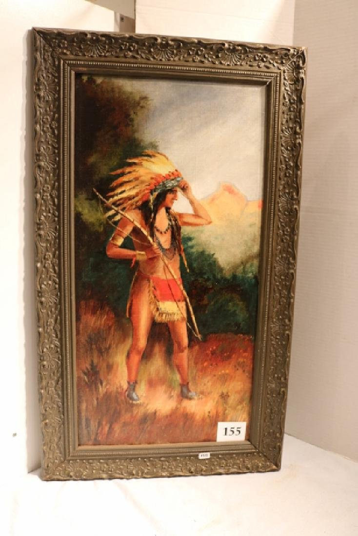 Standing Indian Painting on Canvas