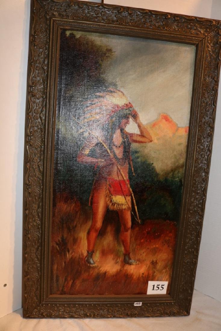 Standing Indian Painting on Canvas - 2