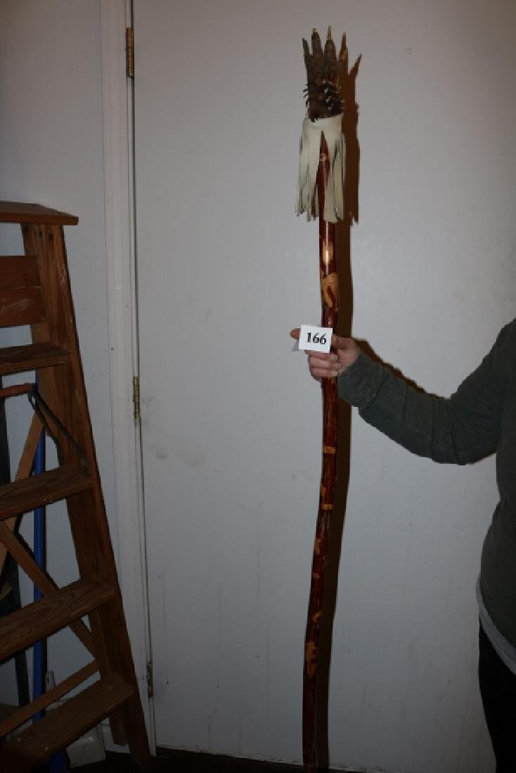 Turtle Foot Staff NO SHIPPING OUT OF COUNTRY