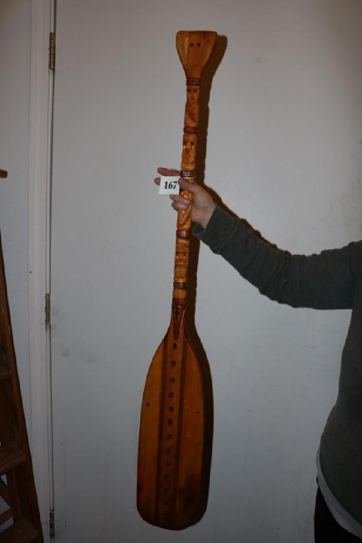 North West Coast Carved Paddle