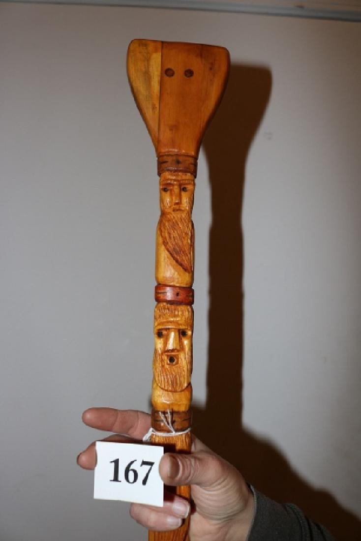 North West Coast Carved Paddle - 3
