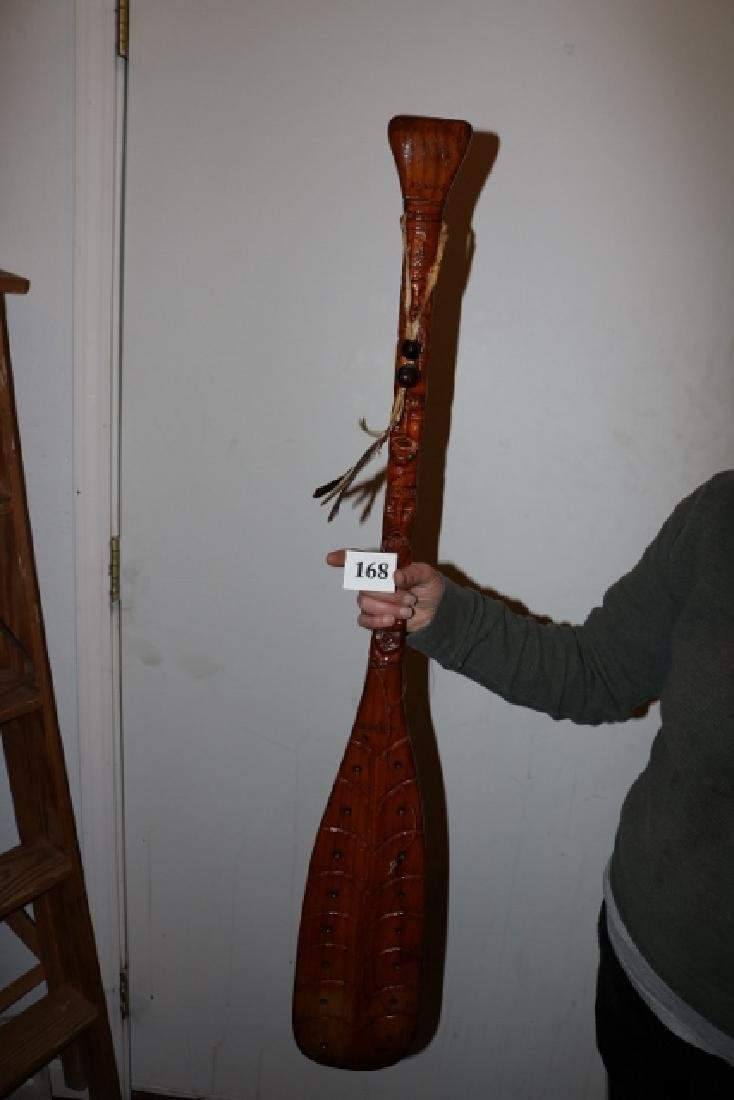 Carved Story Teller Paddle