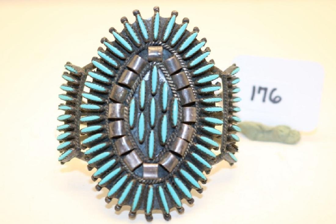 Turquoise and Shell Inlay Bracelet