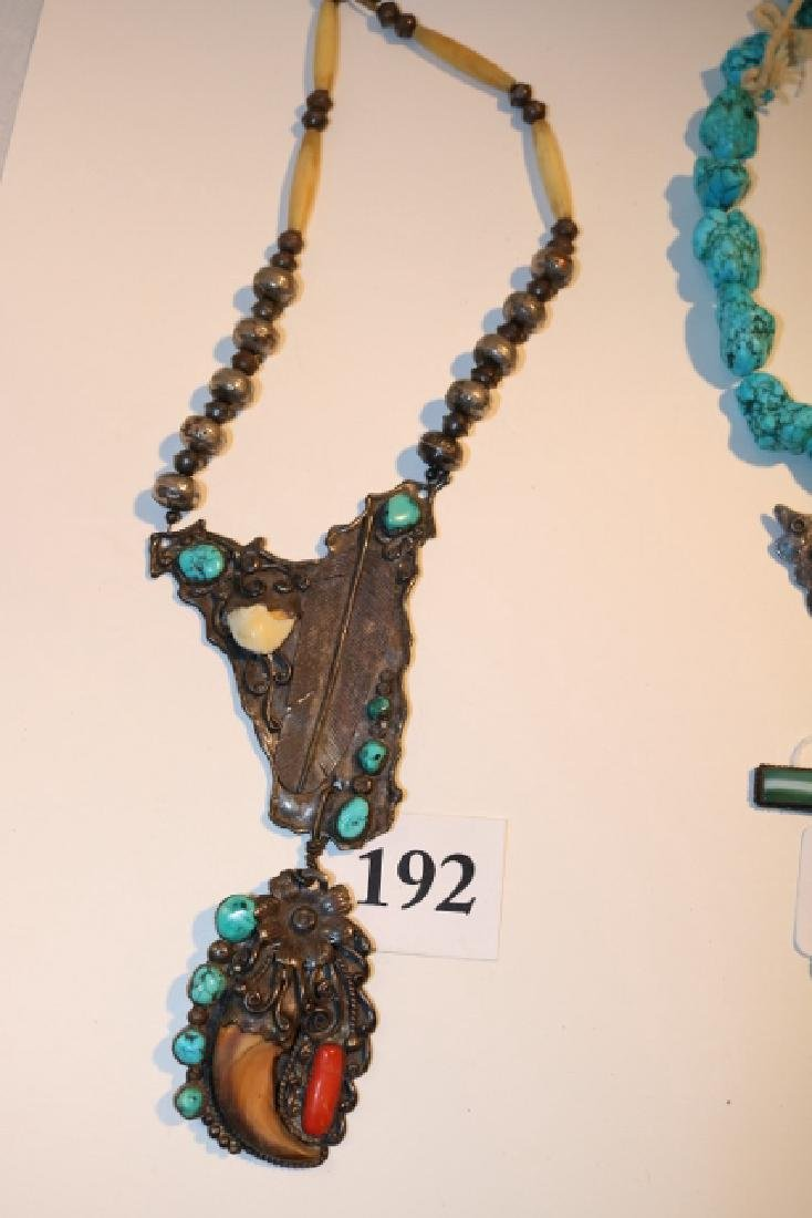 Silver Bead Silver Pendant Necklace