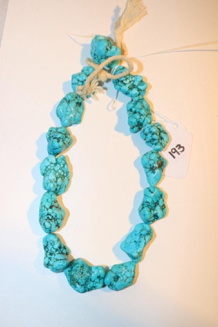 Strand Turq. Nugget Beads