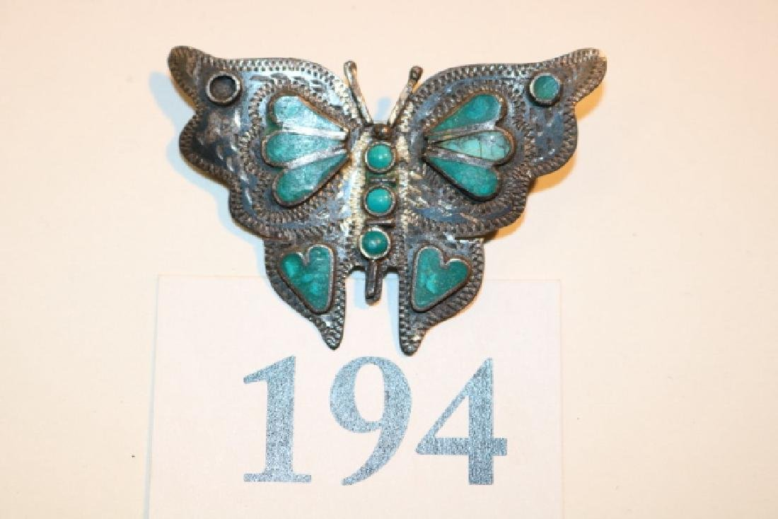 Turq. Butterfly Pin