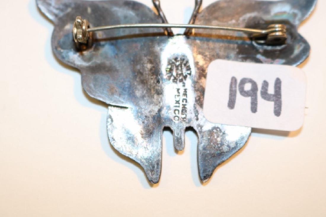 Turq. Butterfly Pin - 2