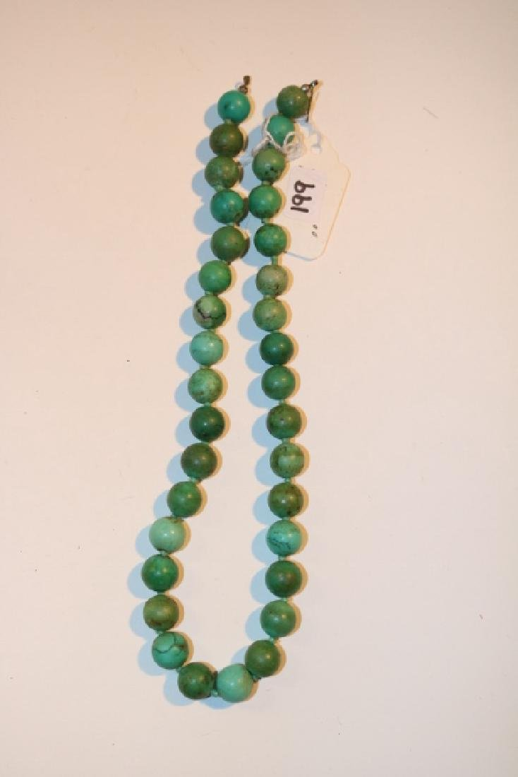 Strand Turq. Round Bead Necklace
