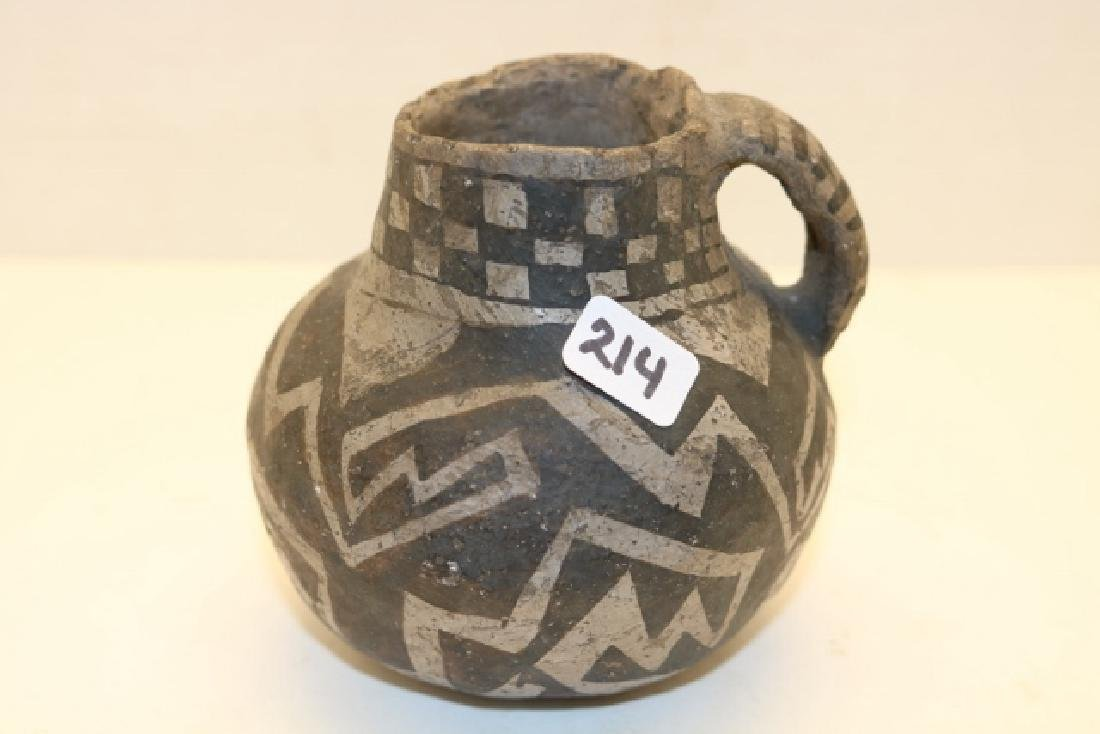 Black & White Handle Anasazi Container