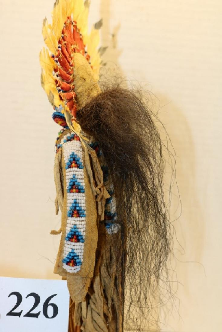 Bead Decor.  Hide Plains DollNO SHIPPING OUT OF COUNTRY - 3