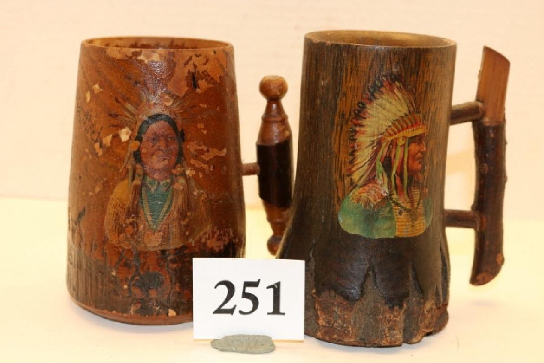 2 Wood Mugs