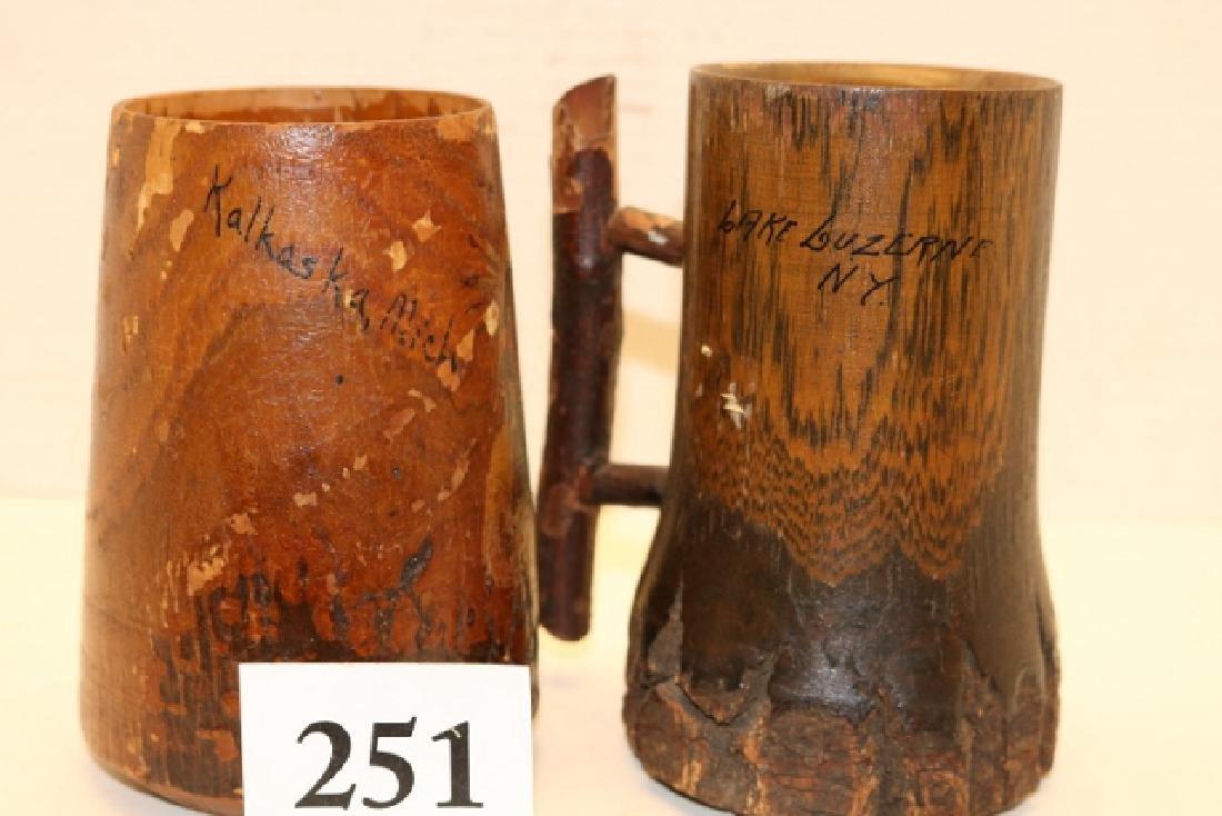 2 Wood Mugs - 2