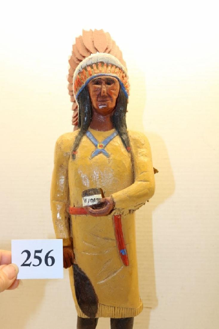 Polychrome Painted Wood Cigar Store - 2