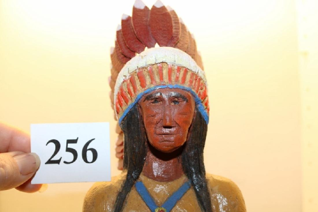 Polychrome Painted Wood Cigar Store - 3