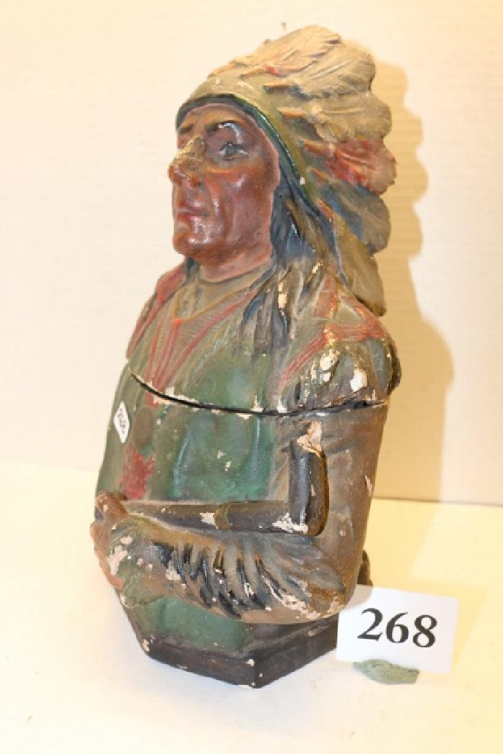 2 Pc. Plaster Indian Container - 2