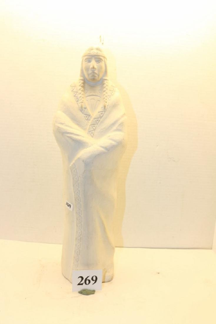 White Ceramic Indian Figure