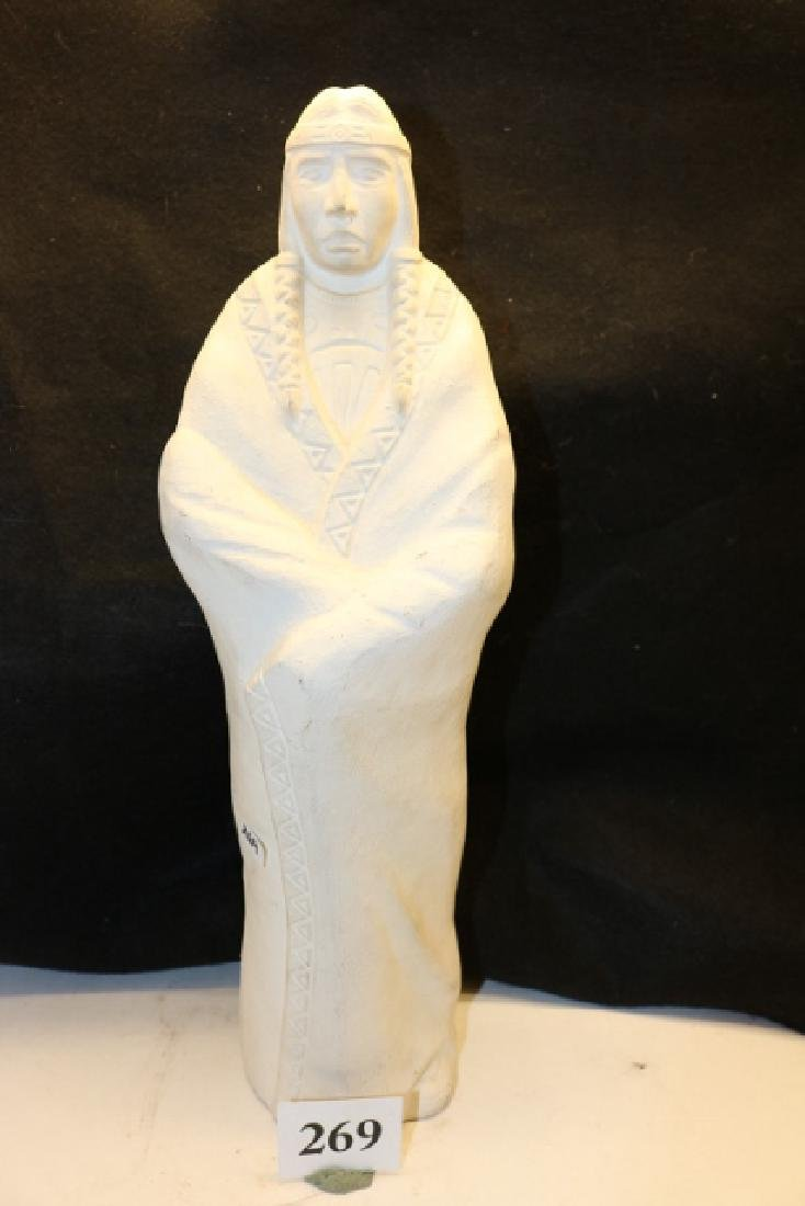 White Ceramic Indian Figure - 2