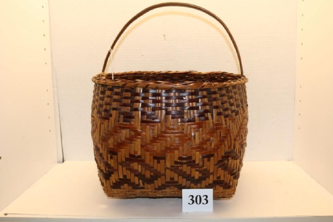 Handled Cherokee Basket
