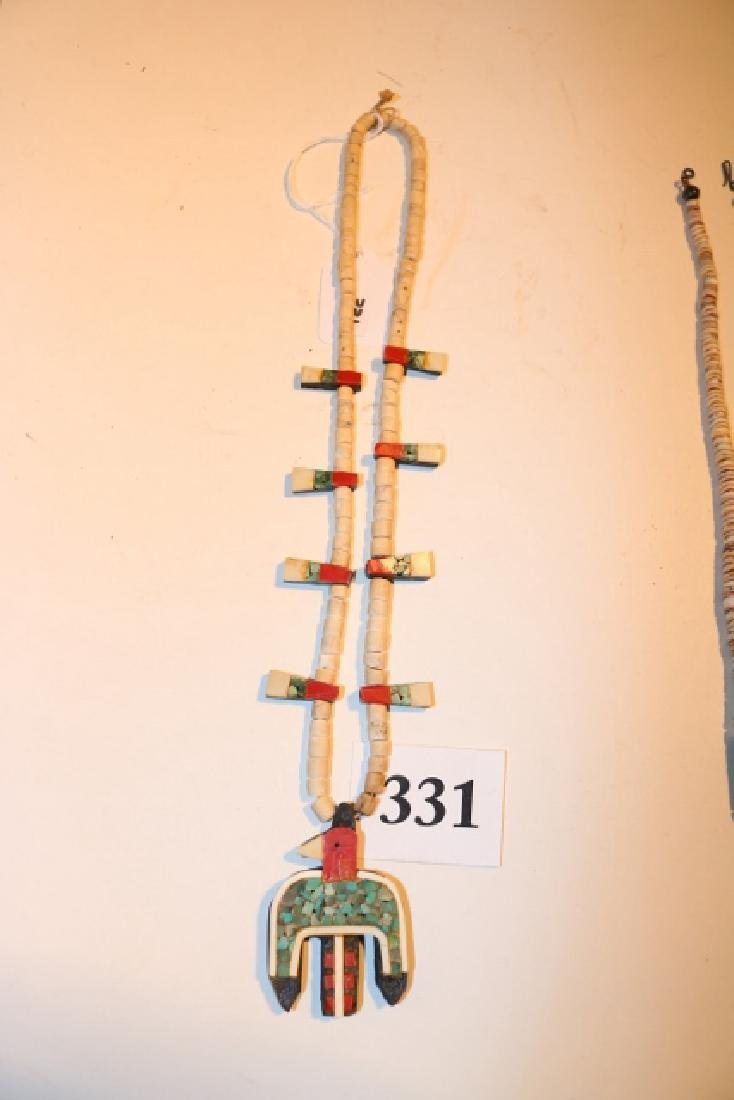 Shell Bead Santa Domingo Inlay Necklace