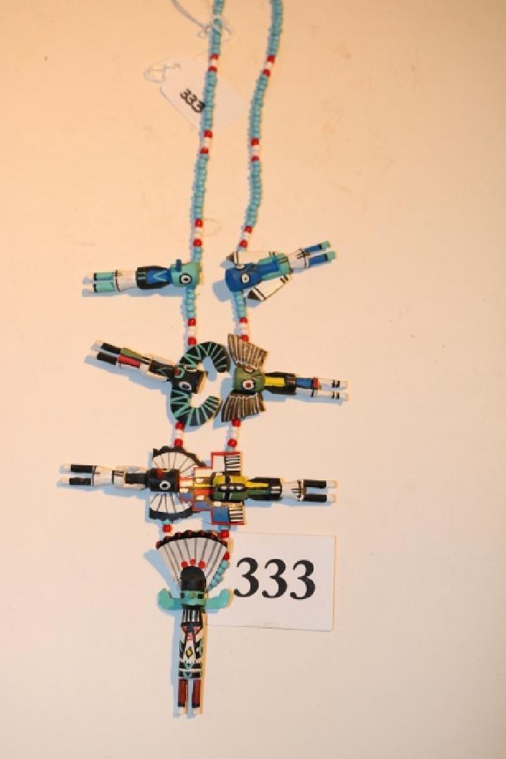 Necklace with 7 Kachina Pendants