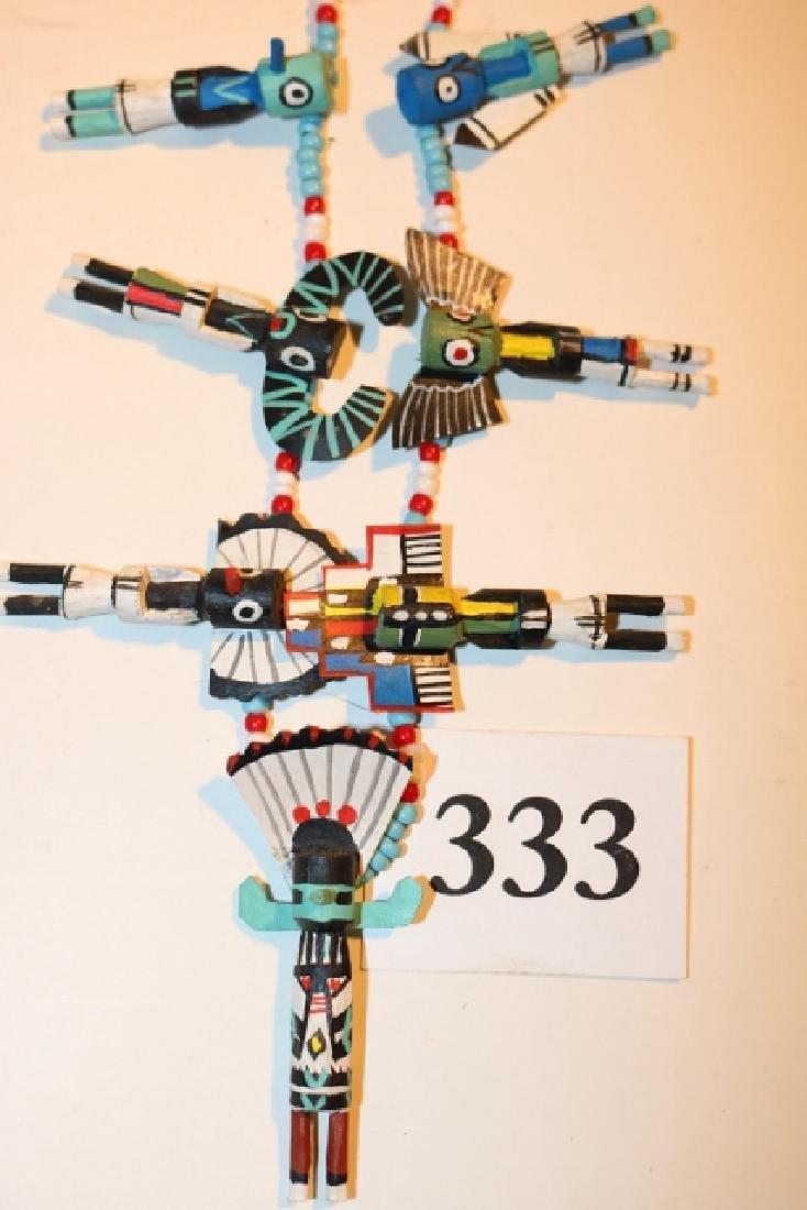 Necklace with 7 Kachina Pendants - 2