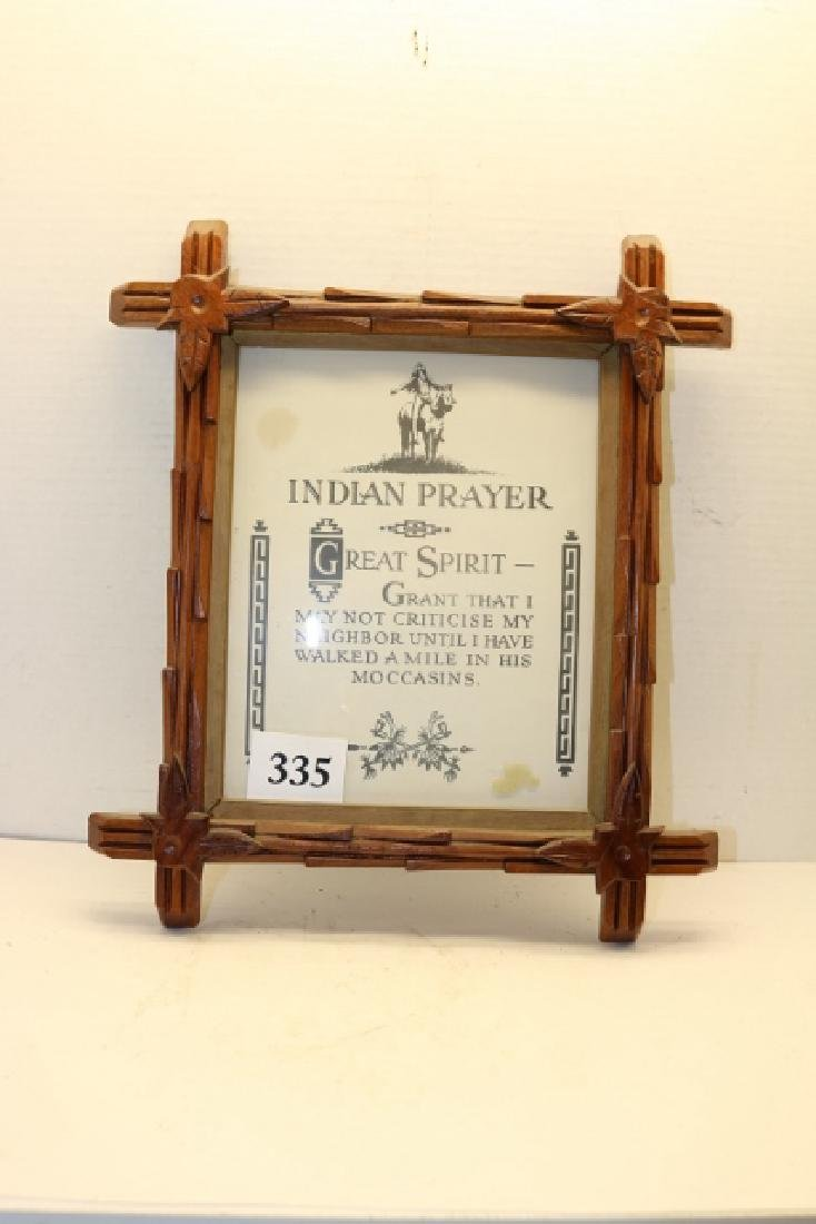 Victorian Frame with Indian Prayer