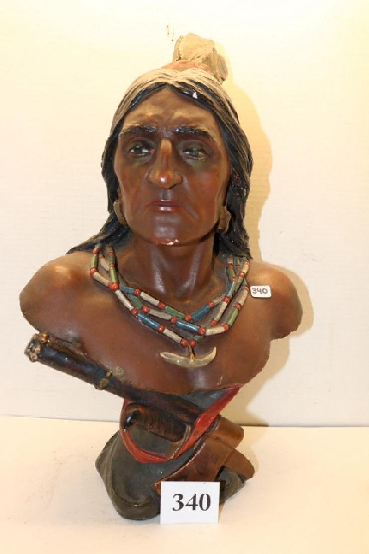 Plaster Indian Bust