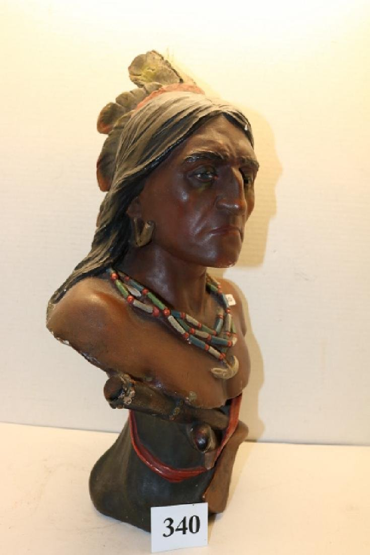 Plaster Indian Bust - 2
