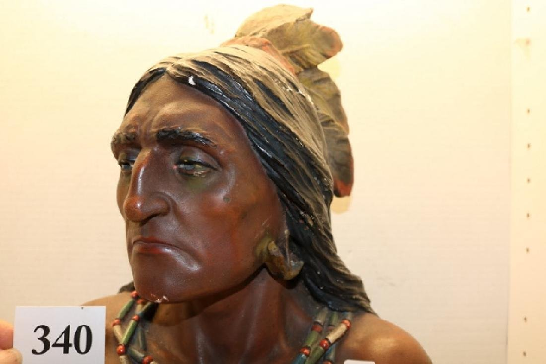 Plaster Indian Bust - 3