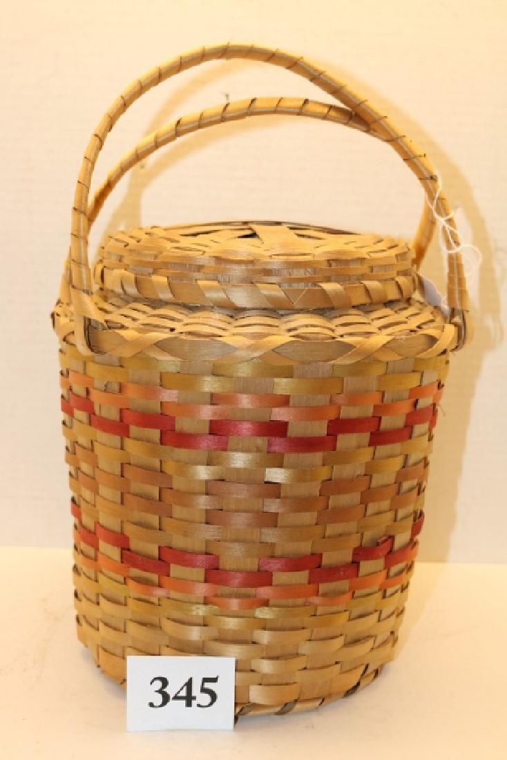 Polychrome Plated Handled Basket