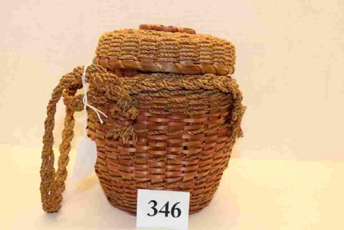 Lidded Plaited Basket